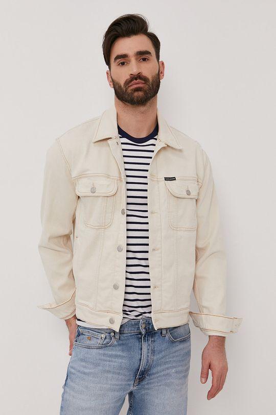 Calvin Klein Jeans - Kurtka jeansowa beżowy