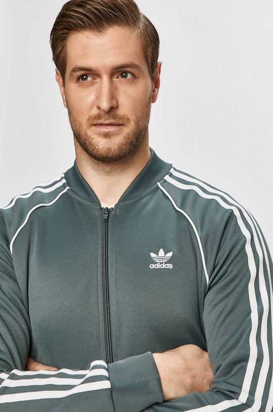 stalowy niebieski adidas Originals - Bluza