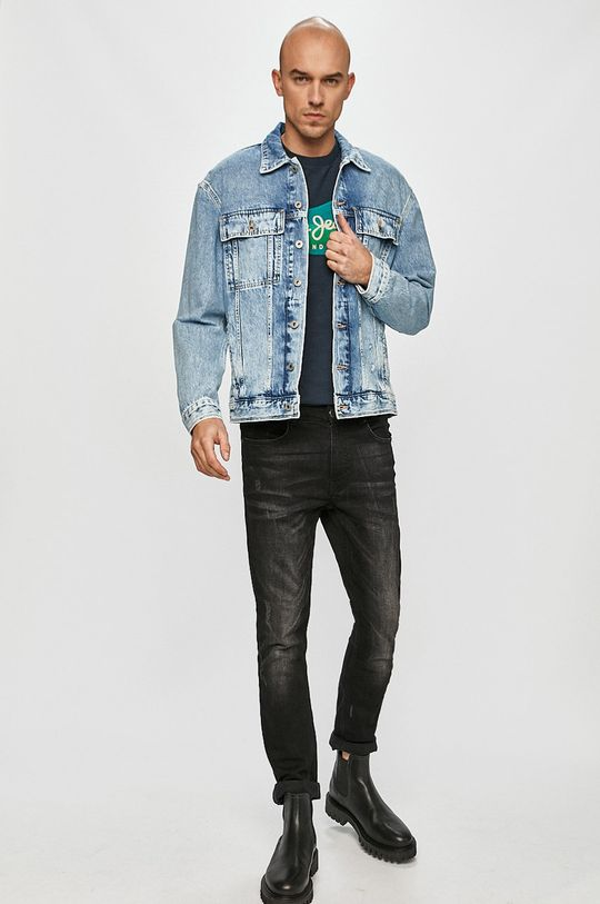 Pepe Jeans - Džínová bunda Young modrá
