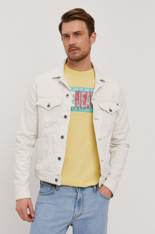 biały Pepe Jeans - Kurtka jeansowa Pinner Męski