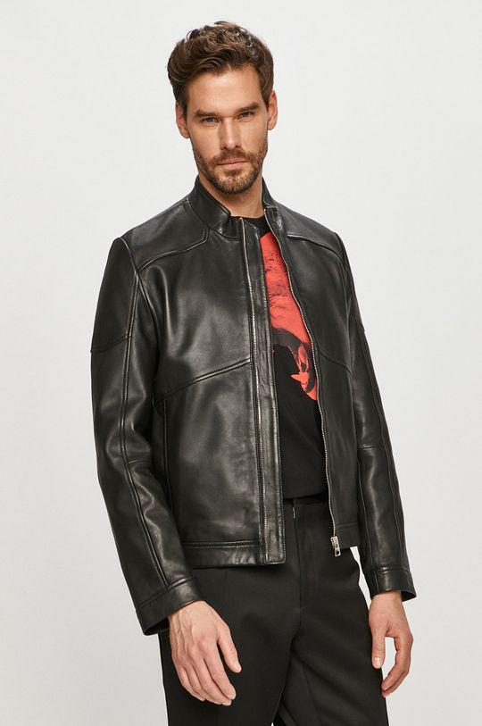čierna Hugo - Kožená bunda Pánsky