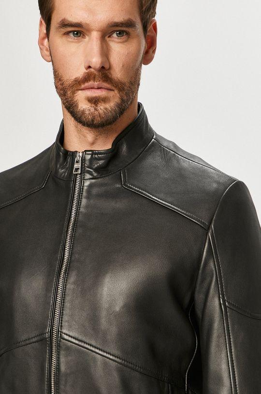čierna Hugo - Kožená bunda