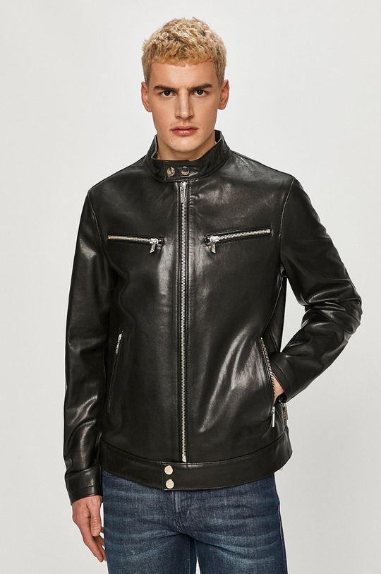negru Karl Lagerfeld - Geaca de piele De bărbați