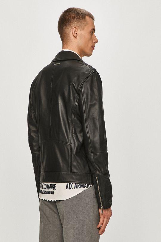 Armani Exchange - Kožená ramoneska  Podšívka: 10% Elastan, 90% Polyester Hlavní materiál: 100% Přírodní kůže