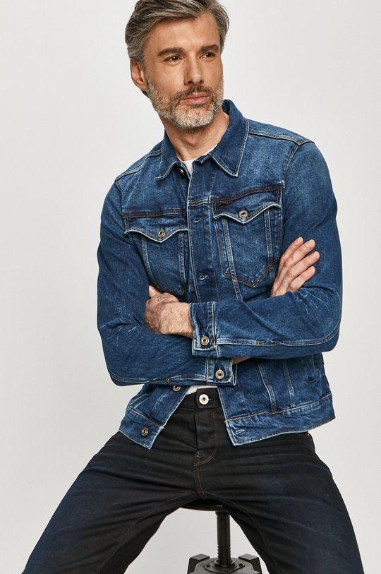 niebieski G-Star Raw - Kurtka jeansowa Męski