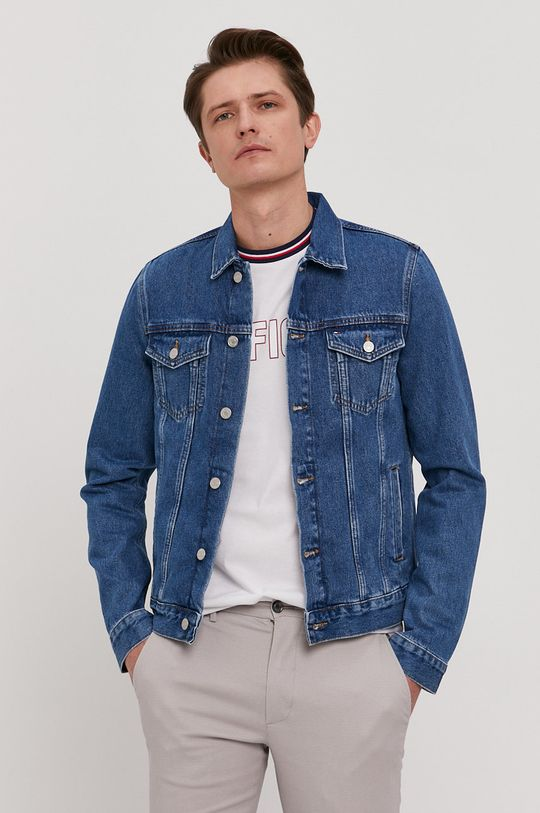 niebieski Tommy Hilfiger - Kurtka jeansowa Męski