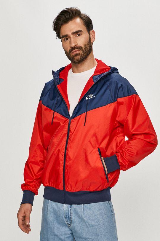 červená Nike Sportswear - Bunda Pánský