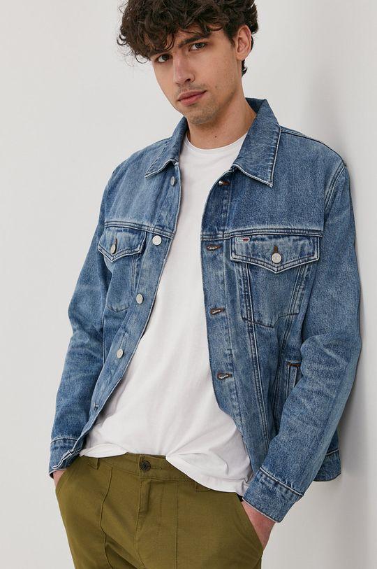 niebieski Tommy Jeans - Kurtka jeansowa Męski
