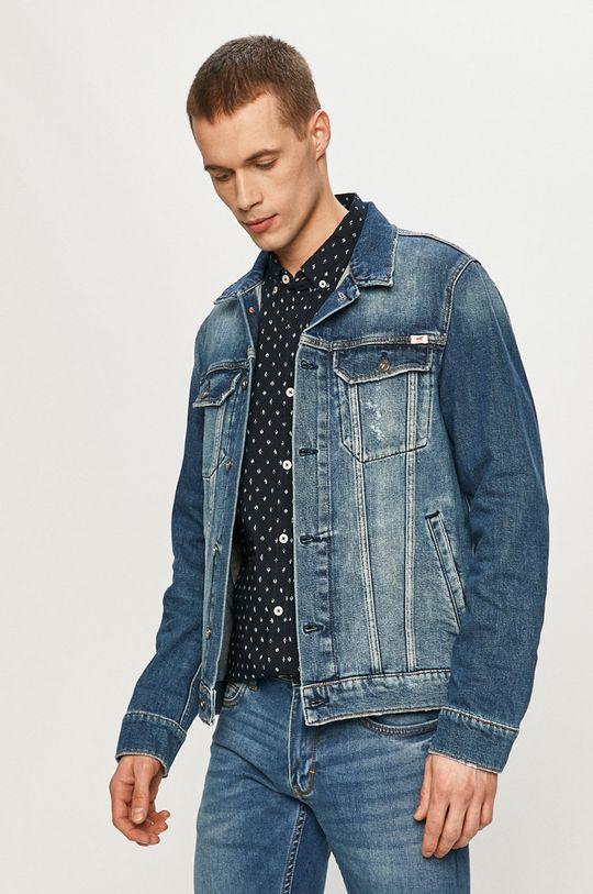 niebieski Mustang - Kurtka jeansowa Męski