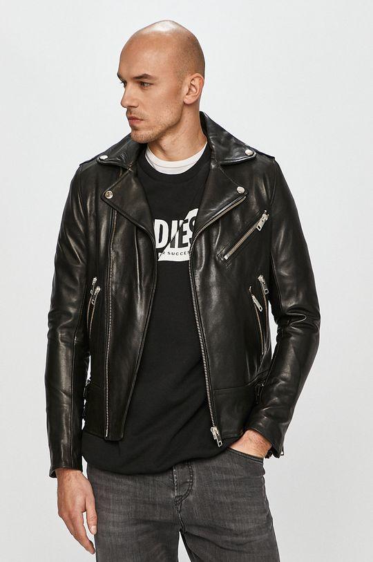 čierna Diesel - Kožená bunda Pánsky