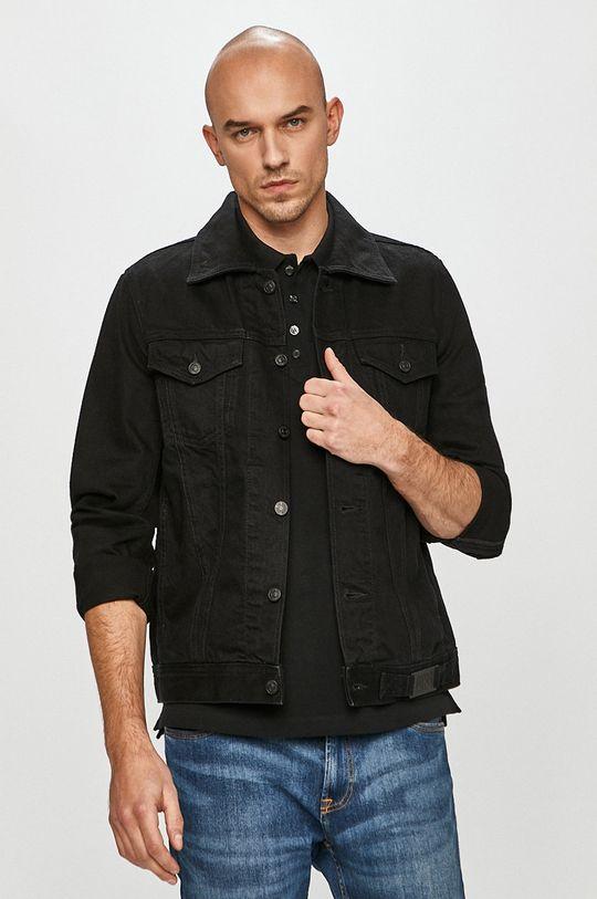 czarny Diesel - Kurtka jeansowa Męski