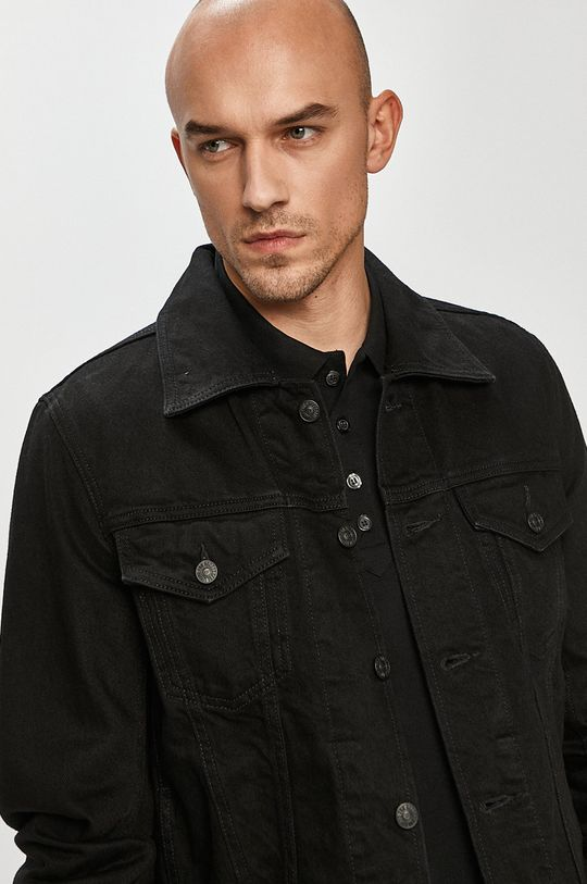czarny Diesel - Kurtka jeansowa