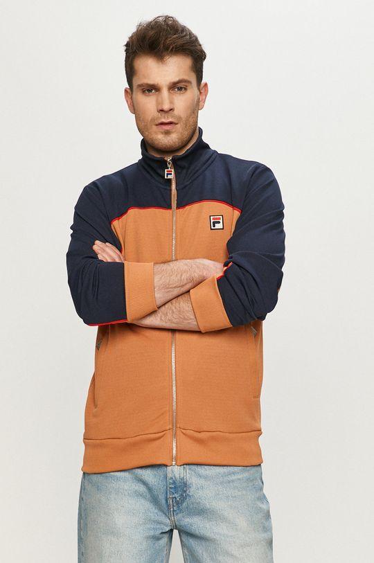 brązowy Fila - Bluza Męski