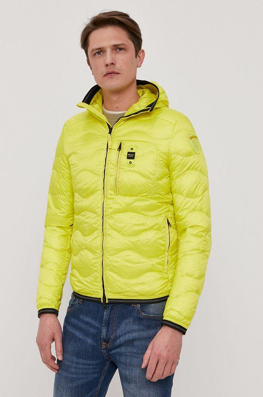 žlutá Blauer - Péřová bunda Pánský