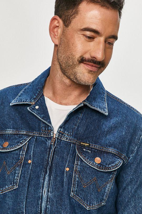 granatowy Wrangler - Kurtka jeansowa
