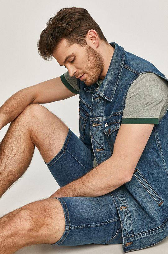 granatowy Wrangler - Bezrękawnik jeansowy Męski