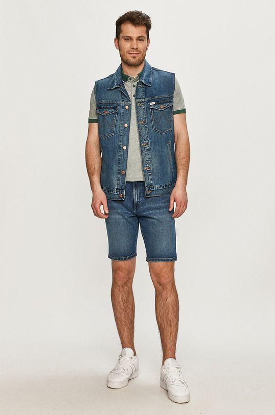 Wrangler - Bezrękawnik jeansowy granatowy
