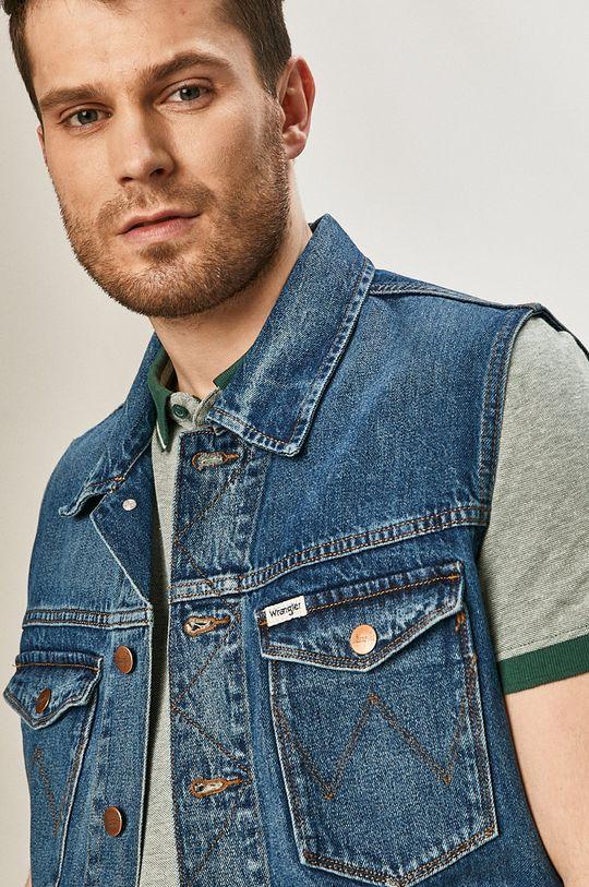 Wrangler - Bezrękawnik jeansowy Męski