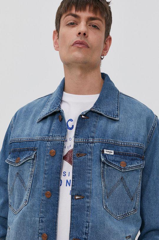 niebieski Wrangler - Kurtka jeansowa