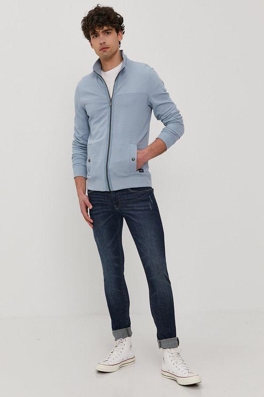 Tom Tailor - Bluza bawełniana niebieski
