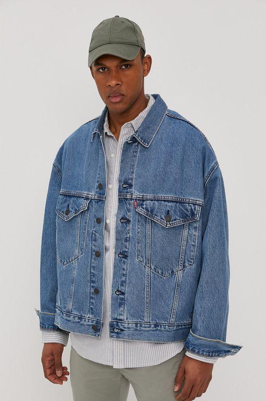 modrá Levi's - Džínová bunda Pánský