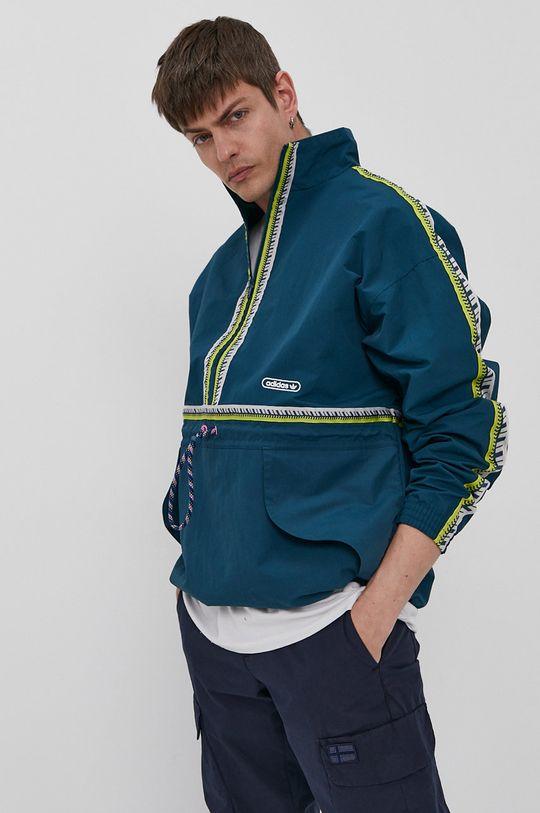stalowy zielony adidas Originals - Kurtka Męski