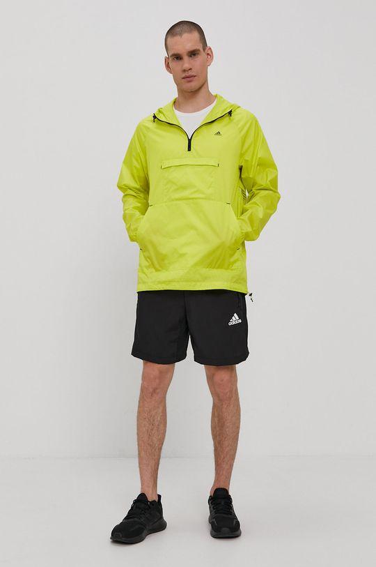 adidas - Kurtka żółto - zielony
