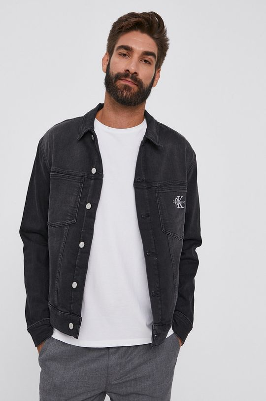 černá Calvin Klein Jeans - Džínová bunda Pánský