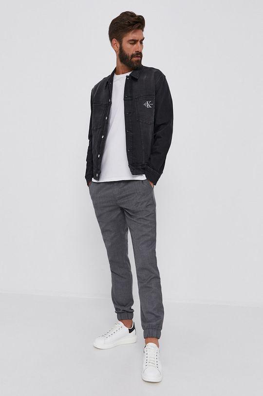 Calvin Klein Jeans - Džínová bunda černá