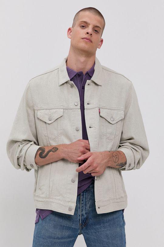 jasny szary Levi's - Kurtka jeansowa Męski