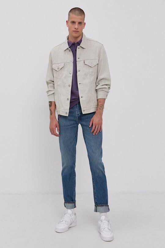 Levi's - Kurtka jeansowa jasny szary