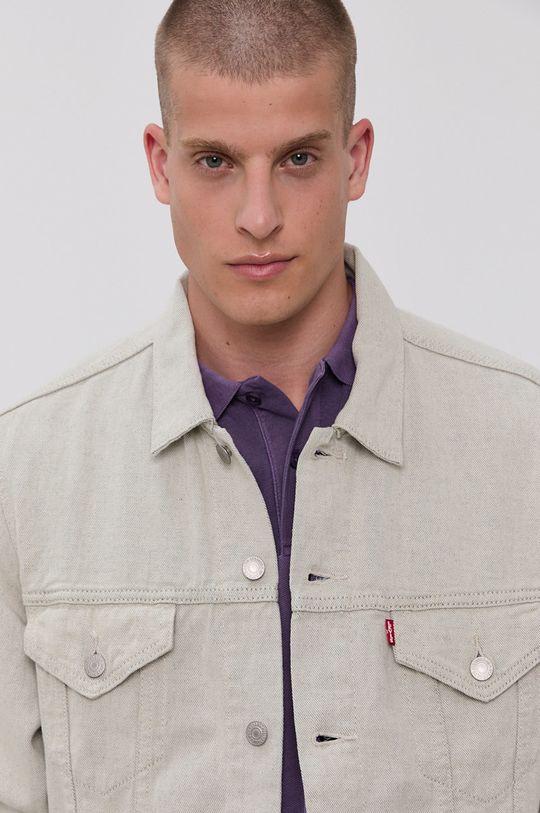 jasny szary Levi's - Kurtka jeansowa