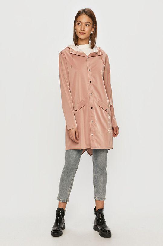 Rains - Nepremokavá bunda pastelová ružová