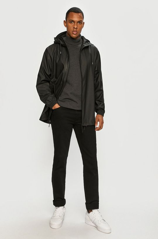 Rains - Nepremokavá bunda 1837 Storm Breaker čierna