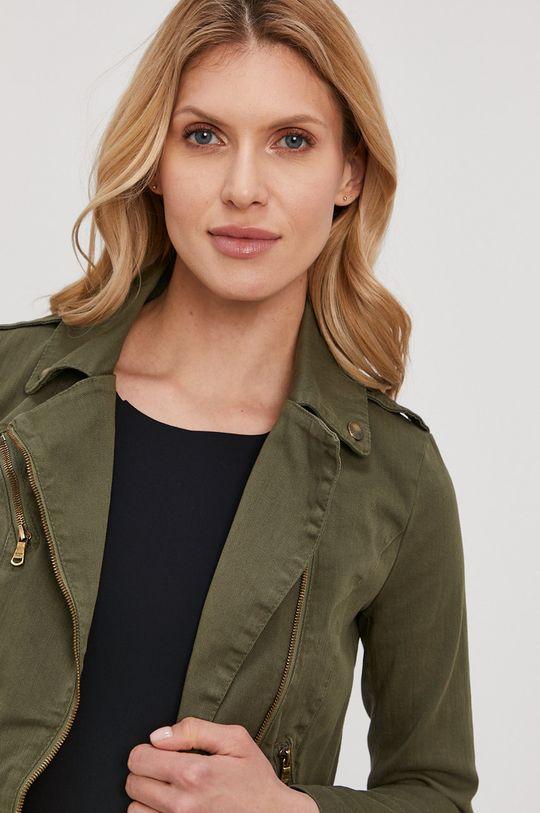 olivová Patrizia Pepe - Riflová bunda