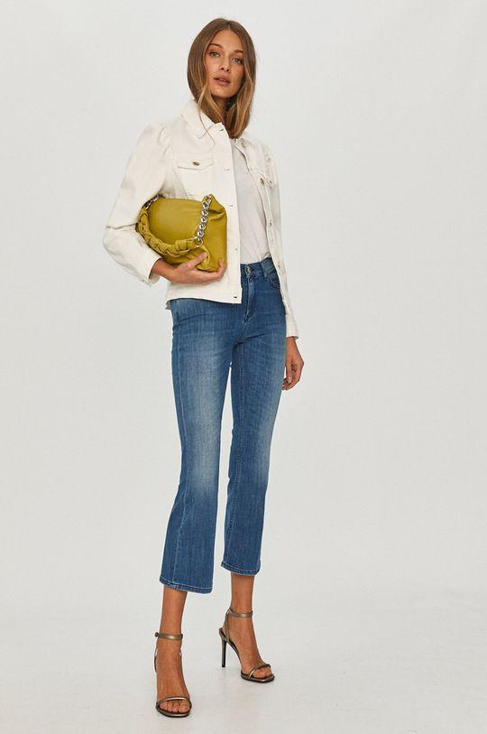 Pinko - Kurtka jeansowa biały
