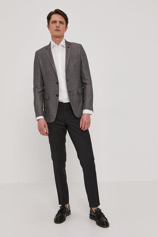 Karl Lagerfeld - Sacou  Material 1: 19% Poliester , 27% Lana, 54% Viscoza Material 2: 100% Viscoza