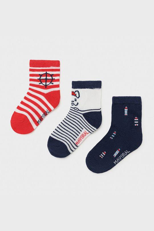 ostrá červená Mayoral - Dětské ponožky (3-PACK) Chlapecký