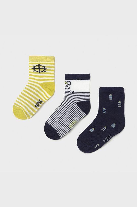 žlto-zelená Mayoral - Detské ponožky (3-pak) Chlapčenský