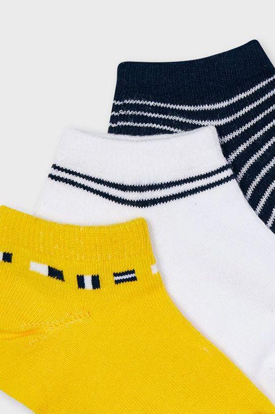 Mayoral - Detské ponožky (3-pak) žltá