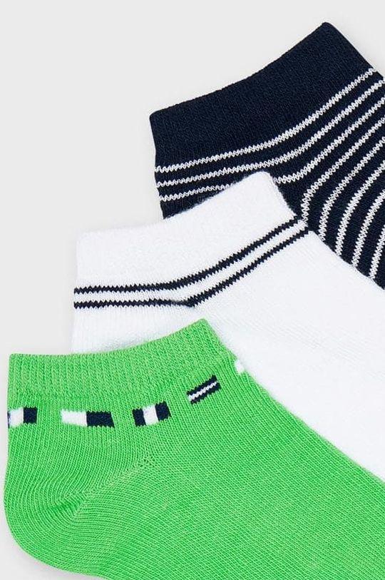 Mayoral - Detské ponožky (3-pak) sýto zelená