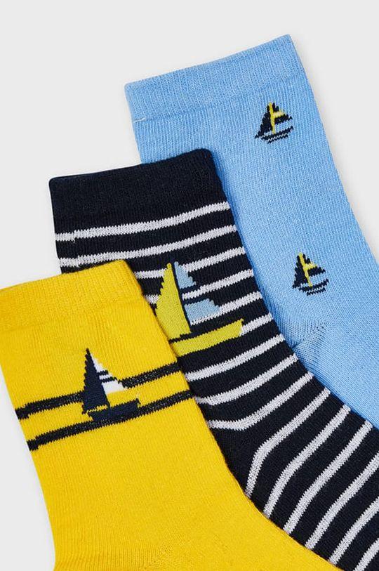 Mayoral - Dětské ponožky (3-PACK) žlutá