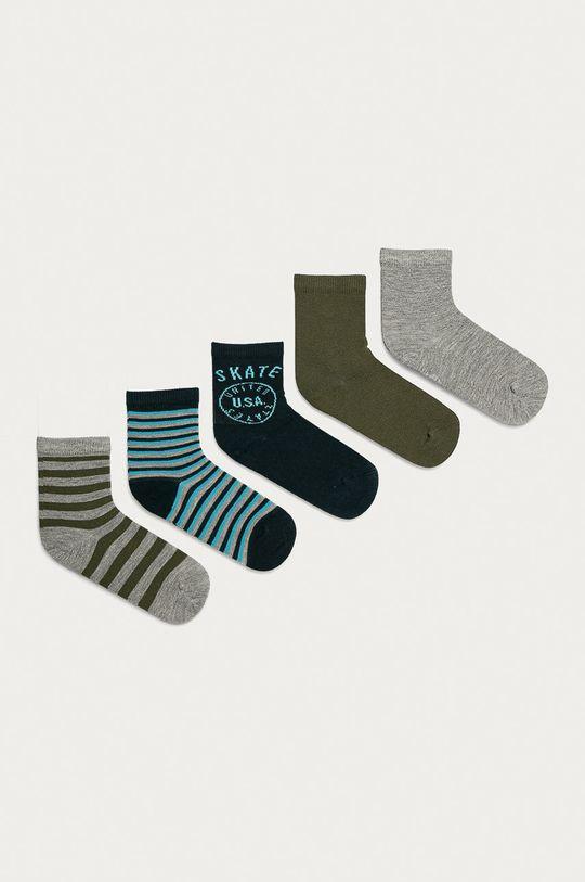 šedá Name it - Dětské ponožky (5-pack) Chlapecký