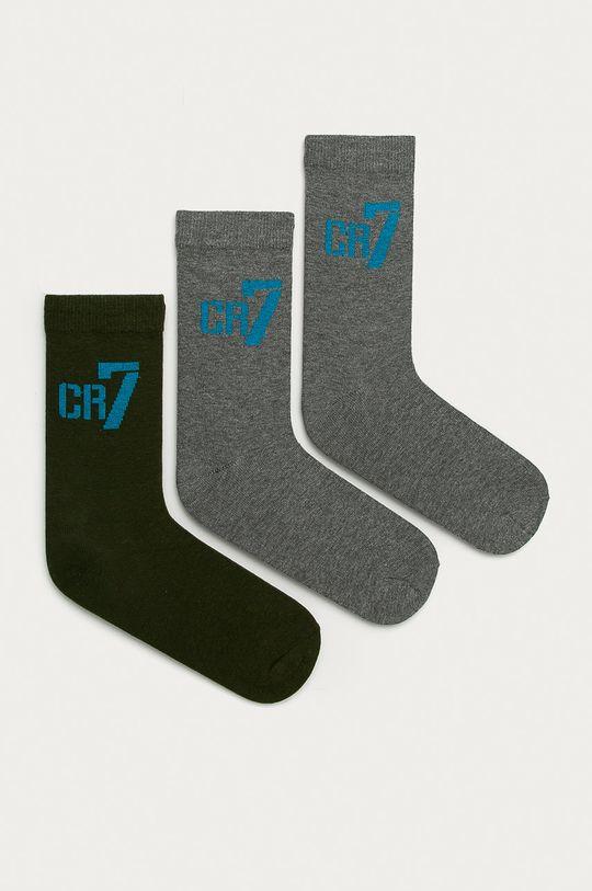 šedá CR7 Cristiano Ronaldo - Dětské ponožky (3-pack) Chlapecký