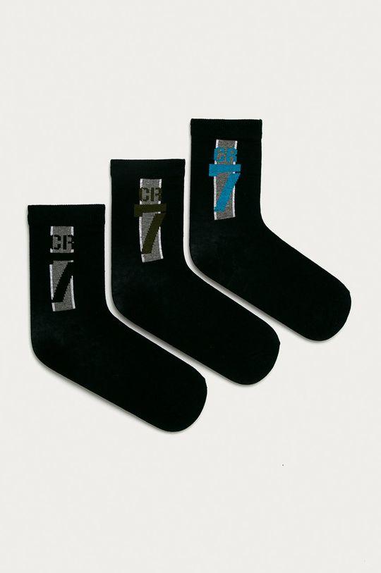 černá CR7 Cristiano Ronaldo - Dětské ponožky (3-pack) Chlapecký