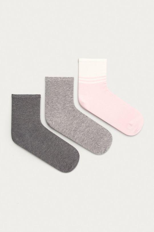 růžová Tommy Hilfiger - Ponožky (3-pack) Dámský