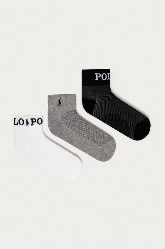 biela Polo Ralph Lauren - Ponožky (3-pak) Dámsky