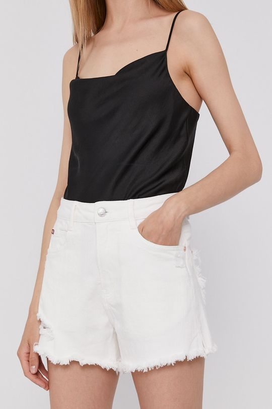 biela Miss Sixty - Rifľové krátke nohavice Dámsky