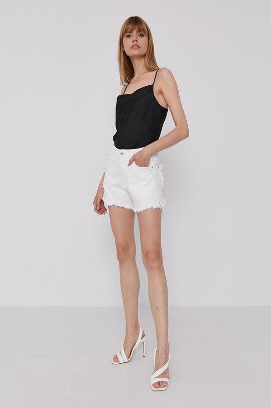 Miss Sixty - Rifľové krátke nohavice biela