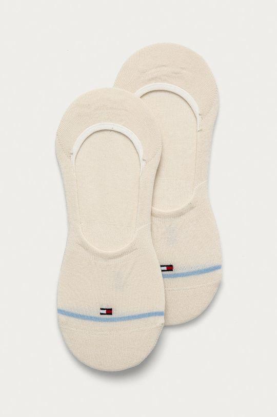 krémová Tommy Hilfiger - Členkové ponožky (2-pak) Dámsky